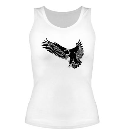 Женская майка «Летящий орел»