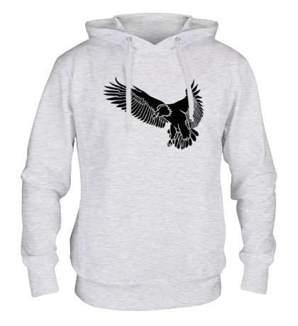 Толстовка с капюшоном «Летящий орел»