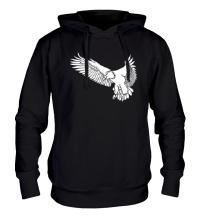Толстовка с капюшоном Летящий орел