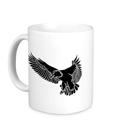 Керамическая кружка «Летящий орел»