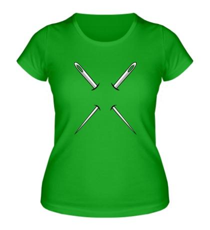 Женская футболка «Две иглы»