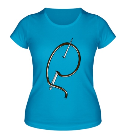 Женская футболка Иголка с ниткой