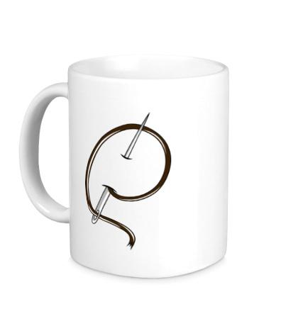 Керамическая кружка Иголка с ниткой