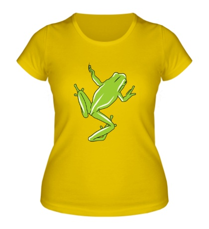 Женская футболка Зеленая лягушка