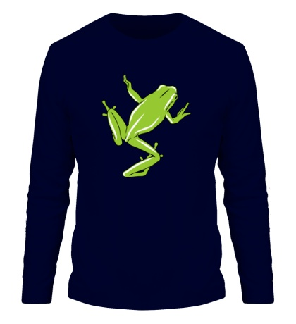 Мужской лонгслив Зеленая лягушка