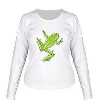 Женский лонгслив Зеленая лягушка