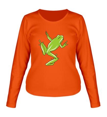 Женский лонгслив «Зеленая лягушка»