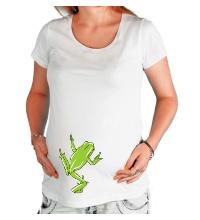 Футболка для беременной Зеленая лягушка