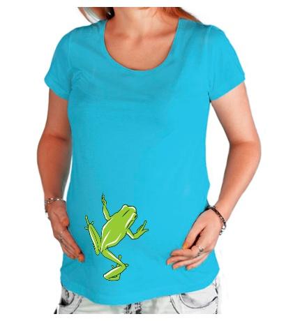 Футболка для беременной «Зеленая лягушка»
