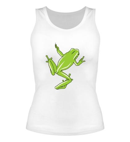 Женская майка Зеленая лягушка