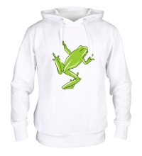 Толстовка с капюшоном Зеленая лягушка