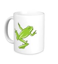 Керамическая кружка Зеленая лягушка