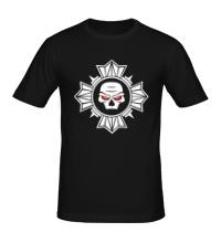 Мужская футболка Череп внутри креста