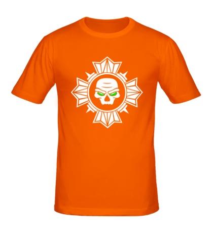 Мужская футболка «Череп внутри креста»