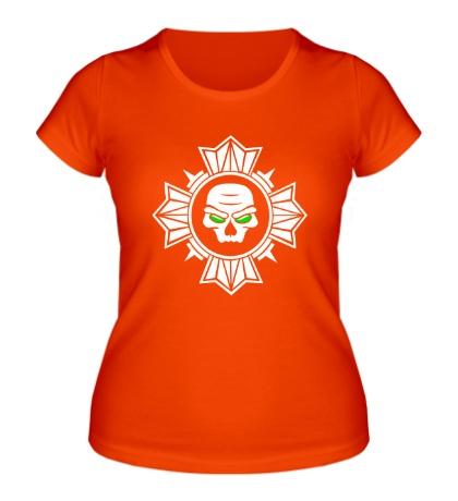 Женская футболка «Череп внутри креста»