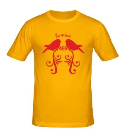 Мужская футболка «Влюбленные птички»