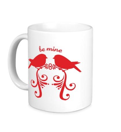 Керамическая кружка «Влюбленные птички»