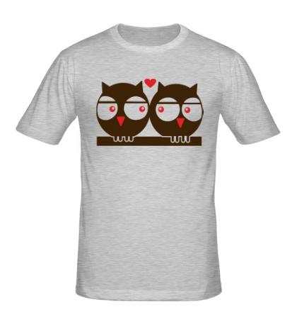 Мужская футболка Влюбленные совы