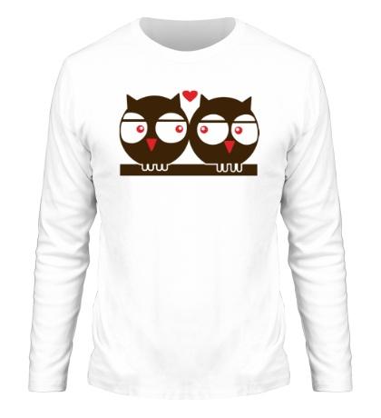 Мужской лонгслив Влюбленные совы