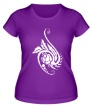 Женская футболка «Цветок в тату стиле» - Фото 1