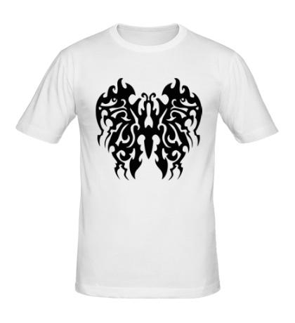 Мужская футболка Бабочка в тату стиле