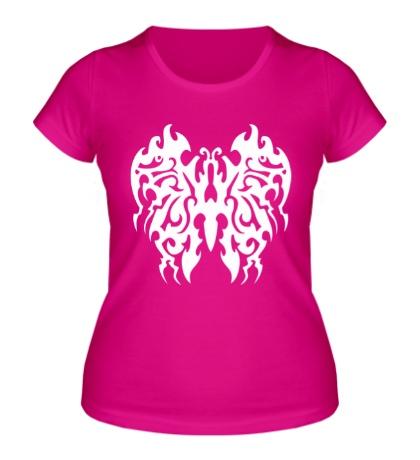 Женская футболка Бабочка в тату стиле