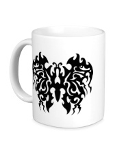 Керамическая кружка Бабочка в тату стиле