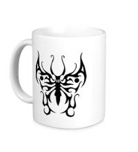 Керамическая кружка Бабочка узор
