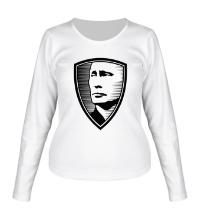 Женский лонгслив Портрет Путина