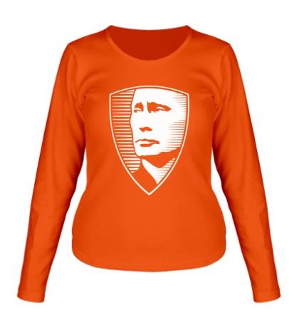 Женский лонгслив «Портрет Путина»