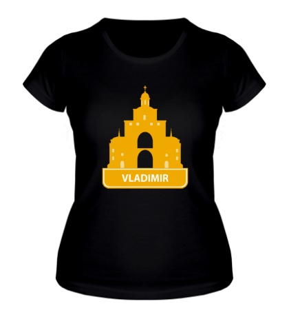 Женская футболка Vladimir City