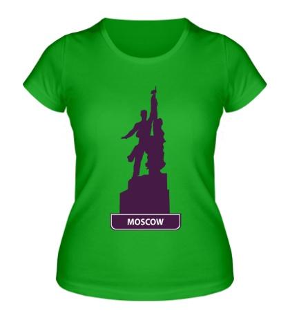 Женская футболка «Моксва»