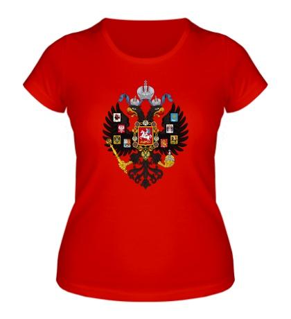 Женская футболка Герб Российской империи