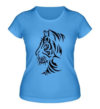 Женская футболка Тату тигр