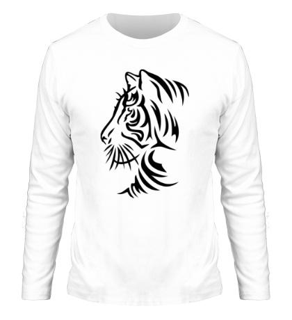 Мужской лонгслив Тату тигр