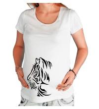 Футболка для беременной Тату тигр