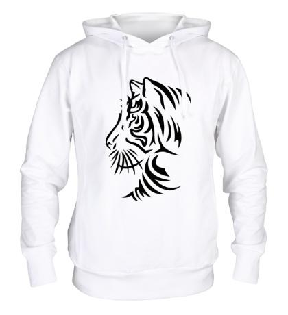 Толстовка с капюшоном Тату тигр