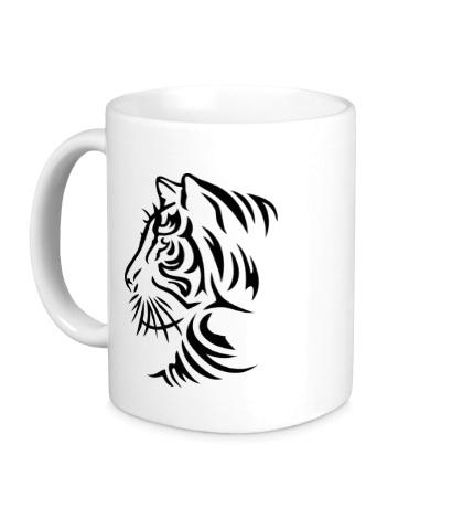 Керамическая кружка Тату тигр