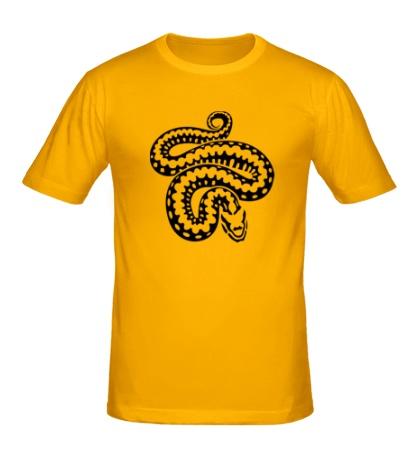 Мужская футболка Силуэт змеи