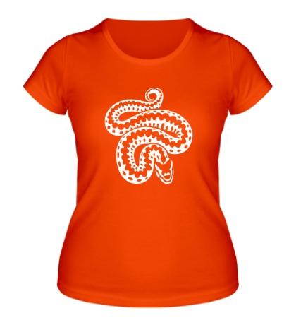 Женская футболка Силуэт змеи