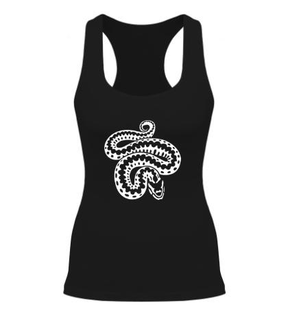 Женская борцовка Силуэт змеи