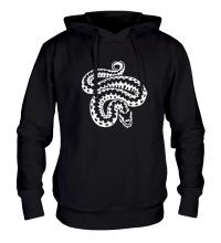 Толстовка с капюшоном Силуэт змеи