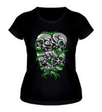 Женская футболка Гора черепов