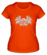Женская футболка «Крылья и стальной череп» - Фото 1