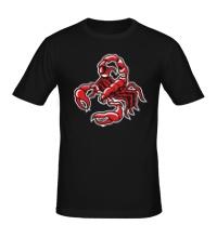 Мужская футболка Силуэт скорпиона