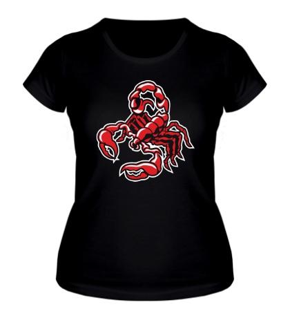 Женская футболка Силуэт скорпиона