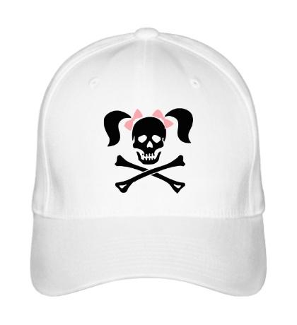 Бейсболка «Череп девушки-пирата»