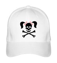 Бейсболка Череп девушки-пирата