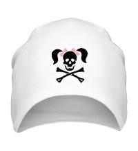 Шапка Череп девушки-пирата