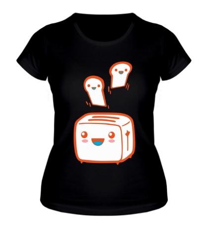 Женская футболка Веселый тостер